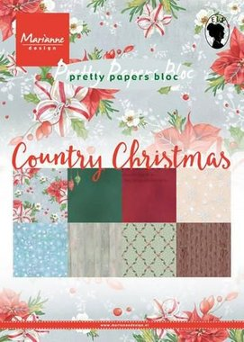 Marianne Design Paper pad Country Christmas PK9139