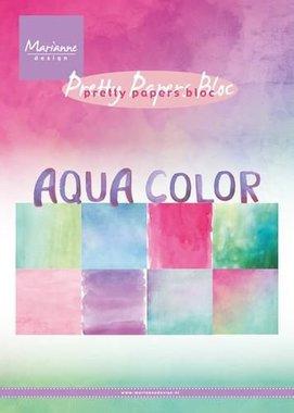 Marianne Design Paper pad Aqua color PK9147 15x21 cm