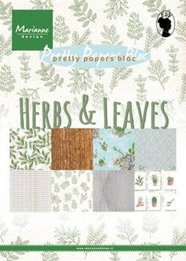 Marianne Design Paper pad Herbs & leaves A5 PK9152 (02-18)