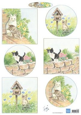 Marianne Design decoupage tiny's kittens IT608