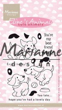 Marianne Design clear stamp eline's cute animals - puppies EC0177