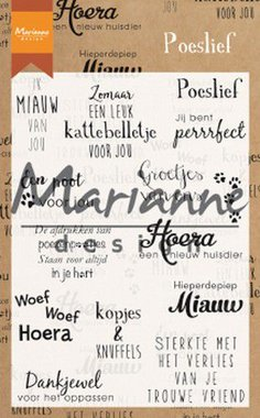 Marianne Design clear stamps poeslief (NL) CS1023