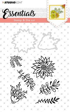 Studio Light Stamp & Die Cut A6 Basics nr 23