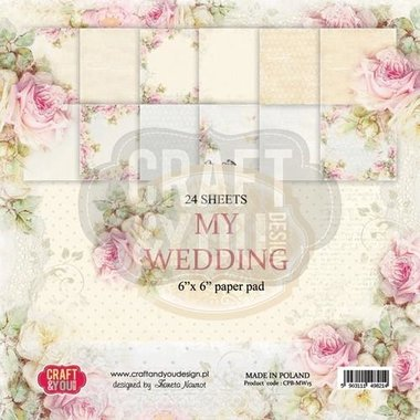 Craft&You My Wedding Small Paper Pad 6x6 36 vel