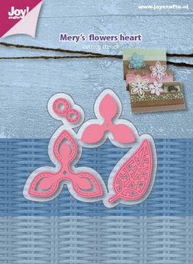Joy! Stencil Mery's flowers heart 6002/1090