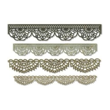 Sizzix Thinlits Die Set - 4PK Crochet