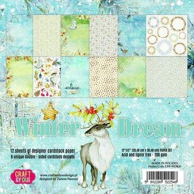 Craft&You Winter Dream Paper Set 12x12 12 vel