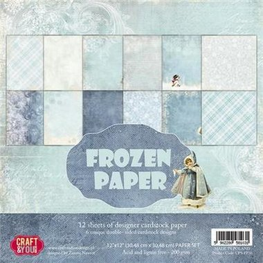 Craft&You Frozen Paper BIG Paper Set 12x12 12 vel