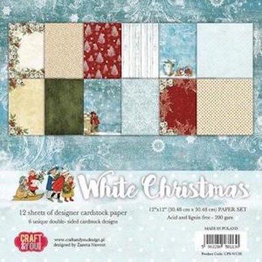 Craft&You white Christmas BIG Paper Set 12x12 12 vel