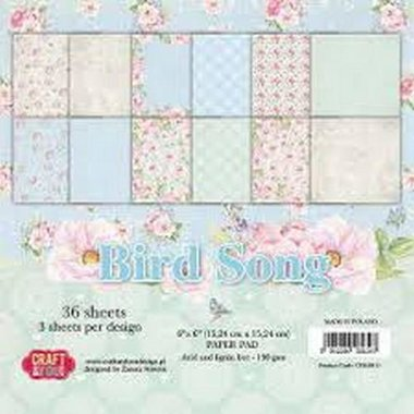 Craft&You Bird Song Small Paper Pad 6x6 36 vel