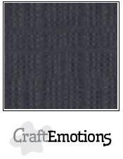 CraftEmotions linnenkarton antraciet 30,0 x 30,0cm