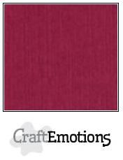 CraftEmotions linnenkarton bordeaux 30,30,cm