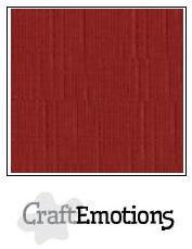 CraftEmotions linnenkarton donkerrood 30,0 x 30,0 cm