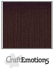 CraftEmotions linnenkarton chocolade 30,0 x 30,0 cm