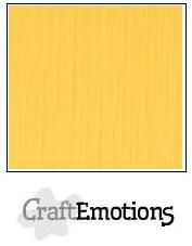 CraftEmotions linnenkarton goudgeel 30,0 x 30,0 cm