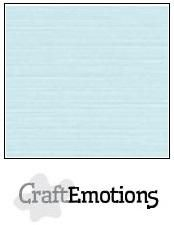 CraftEmotions linnenkarton babyblauw 30,0 x 30,0 cm
