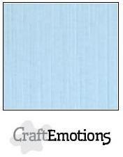 CraftEmotions linnenkarton azuurblauw 30,0 x 30,0 cm