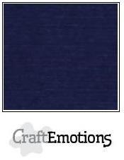 CraftEmotions linnenkarton donker blauw 30,0 x 30,0 cm