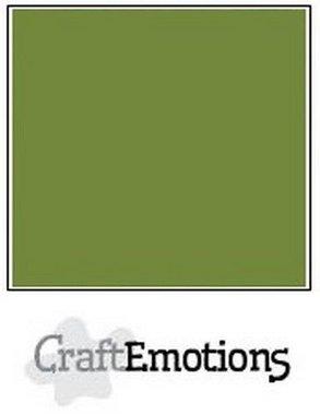 CraftEmotions karton gladkarton 10 vel mosgroen 30,0 x 30,0 cm