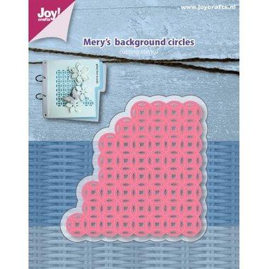 Joy! stencil Mery's achtergrond cirkels 6002/1158