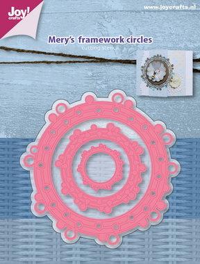 Joy! stencil Mery's frame werk cirkels 6002/0997
