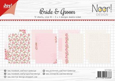 Joy! papierset Bride and groom 6011/0608