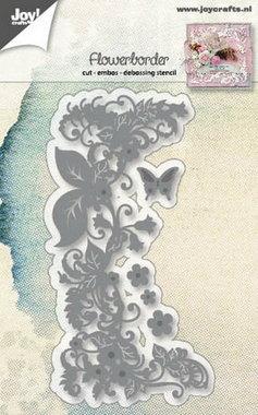 Joy! stencil bloemenrand 6002/1188