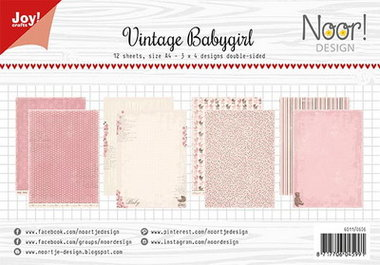 Joy! papierset Vintage baby girl 6011/0606