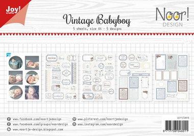 Joy! labelsheets cuttingsheet vintage baby boy 6011/0415