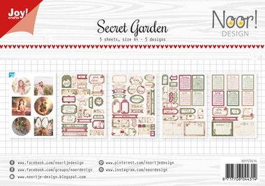 Joy! labelsheets cuttingsheet Secret garden 6011/0414