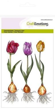 CraftEmotions clearstamps A6 - tulp
