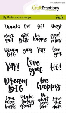 CraftEmotions clearstamps A6 - Bullet Journal - quotes (Eng) Carla Kamphuis