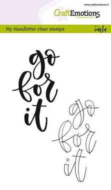 CraftEmotions clearstamps A6 -  handletter - go for it (Eng) Carla Kamphuis