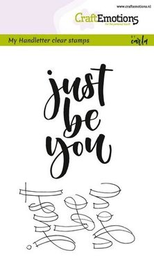 CraftEmotions clearstamps A6 -  handletter - just be you (Eng) Carla Kamphuis