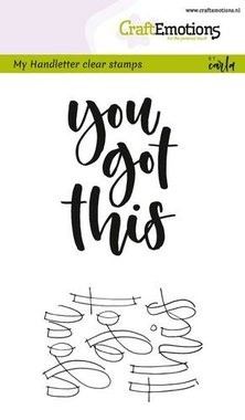 CraftEmotions clearstamps A6 -  handletter - you got this (Eng) Carla Kamphuis