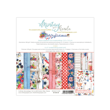 Mintay paperpad Berrylicious 15,2 x 15,2 cm