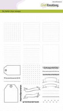 CraftEmotions clearstamps A5 - Bullet Journal - frames en randen (02-18)