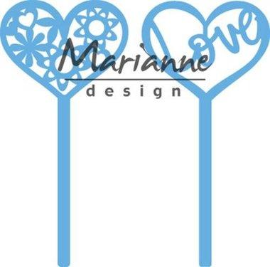 Marianne Design Creatable Hart pins (set van 2) LR0573