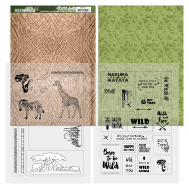 Amy Design printed sheets wild animals