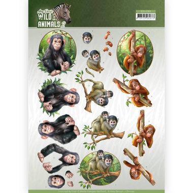 Amy Design knipvel Wild animals - Monkeys