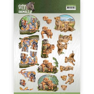 Amy Design knipvel Wild animals - Twins