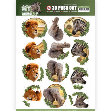 Amy Design push out Wild animals - Africa