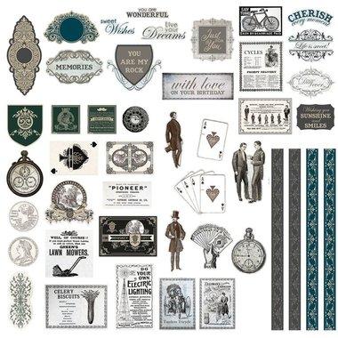 Couture Creations Gentlemans Emporium diecut ephemera set
