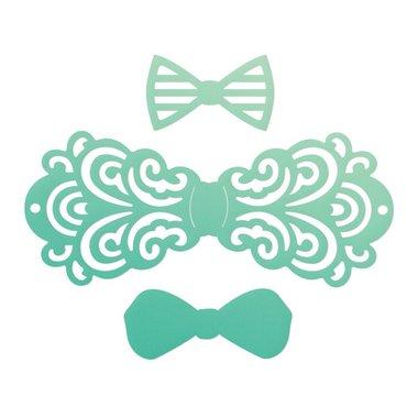 Couture Creations mini die Gentlemans emporium - Filigree bow tie set