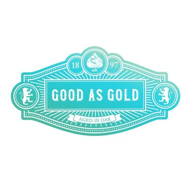 Couture Creations mini stamp Gentlemans emporium - Good as gold sentiment
