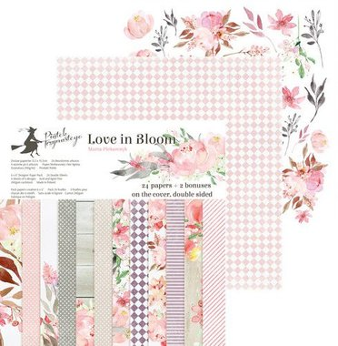 Piatek13 - Paper pad Love in Bloom  30.5 x 30.5 cm