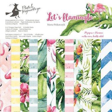 Piatek13 - Paper pad Let's flamingle 30.5 x 30.5 cm