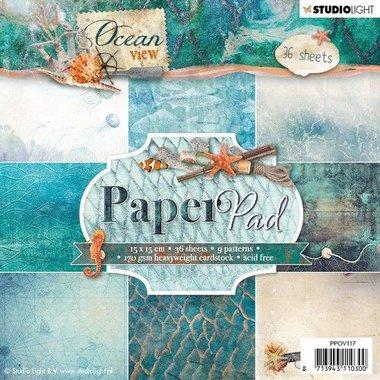 Studio Light Paper pad 36 vel Ocean View 3.0 nr 117