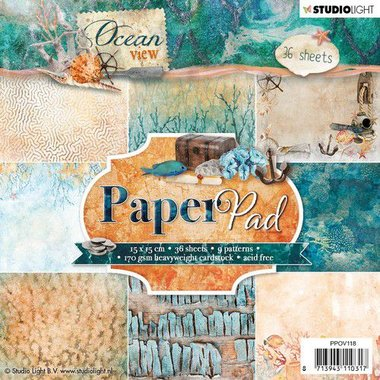 Studio Light Paper pad 36 vel Ocean View 3.0 nr 118