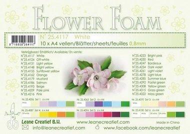 LeCrea - Flower Foam A4 wit 0.8mm